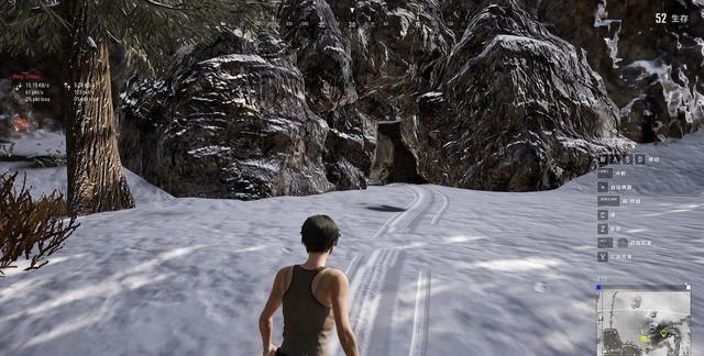 《绝地求生》雪地地图神秘藏宝洞,洞内2个空投箱和各种配件