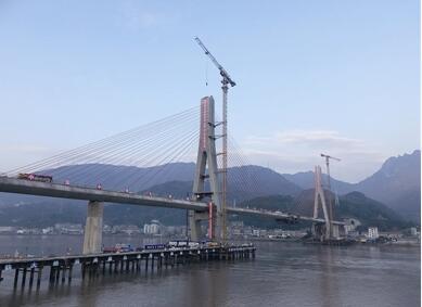 关注!世界最大跨度铁路混凝土斜拉桥顺利合龙