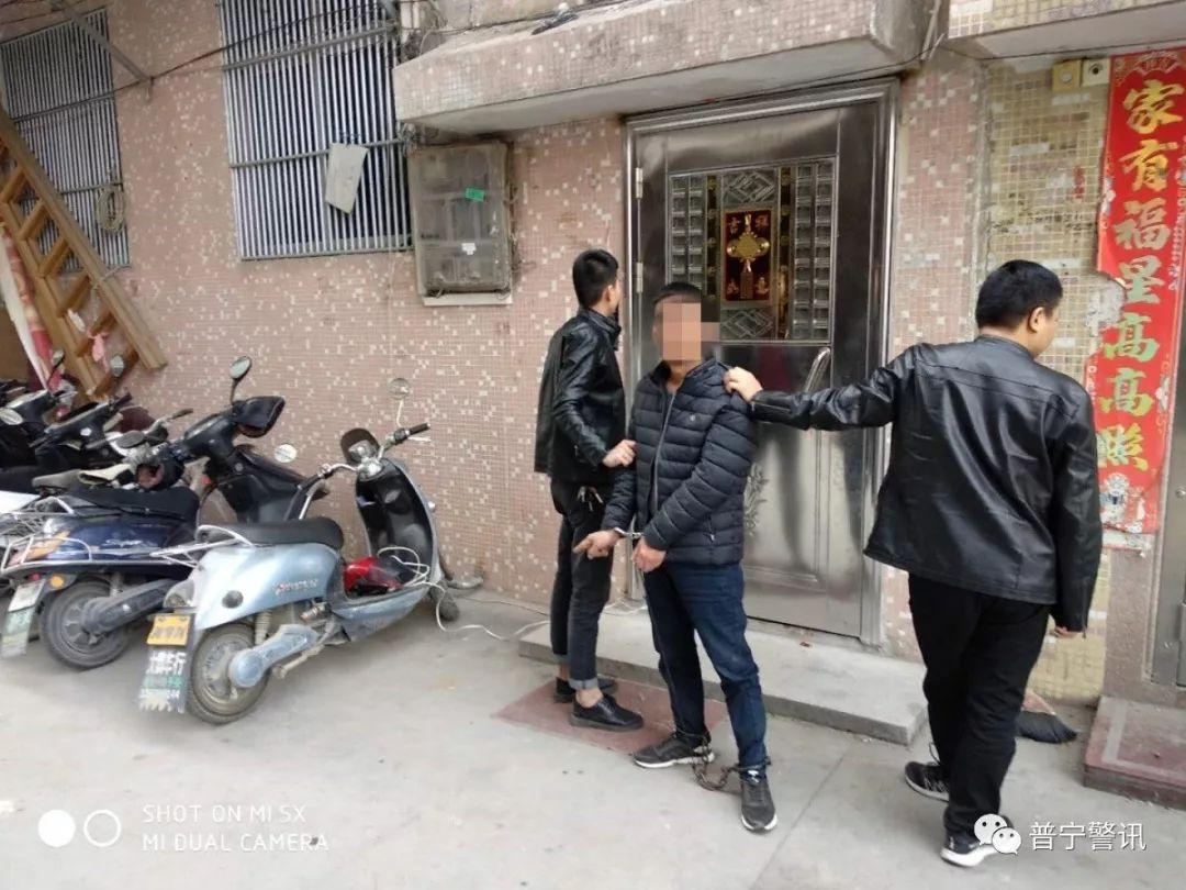普宁两男子在流沙连偷8辆电动车后落网,作案工具大曝光!