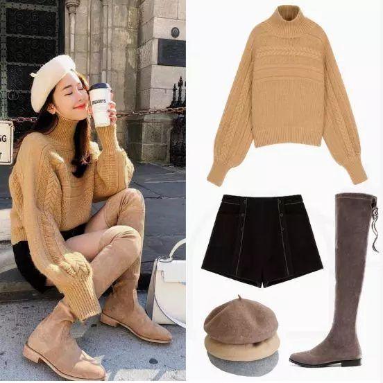 秋冬的气质担当,针织衫+长靴,甜美显瘦还回头率爆棚