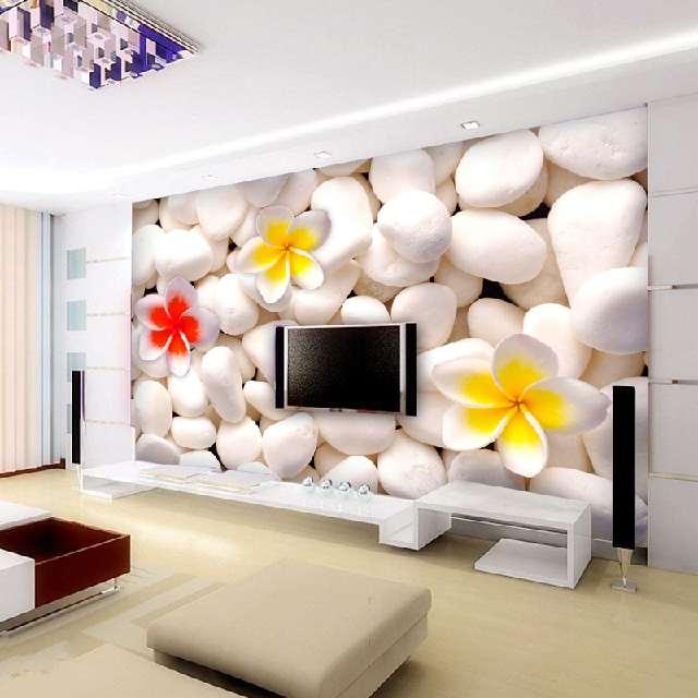 客厅背景墙装修别再只知道石膏板,这些壁纸让生活更加高大上