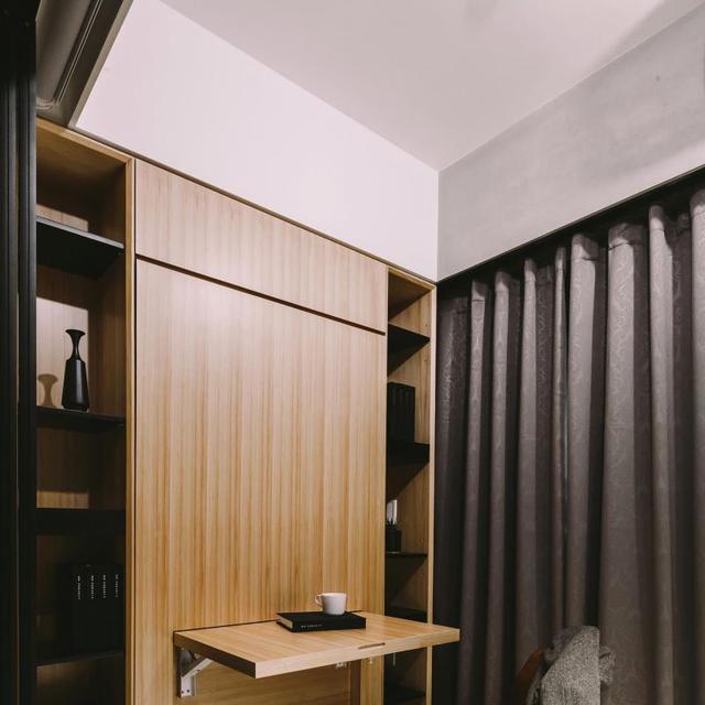 64平一居室、北欧风、两个人住,文化石设计太大胆