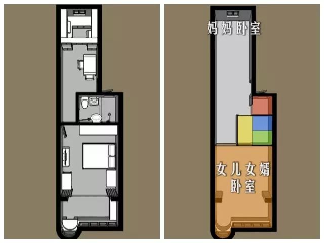 衣帽间、三分离卫浴、影音室、健身房...这个家真的37㎡小家吗?