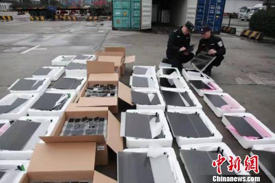 沪深海关缉私局联合打击液晶显示屏走私  破10犯罪团伙总案值逾16亿