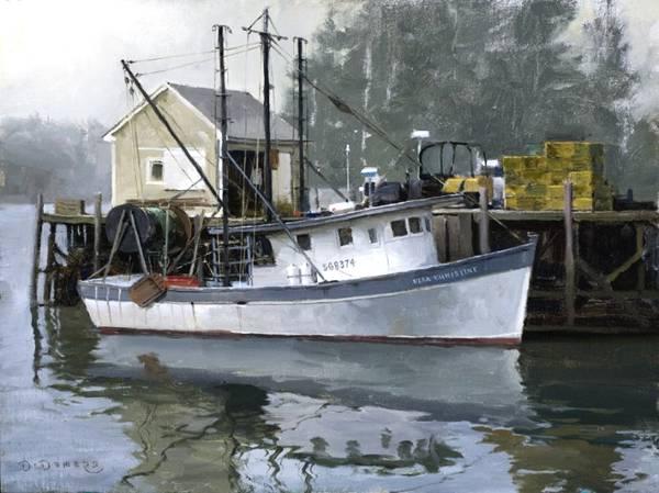 海岸线风光的美:美国画家德默斯油画作品欣赏