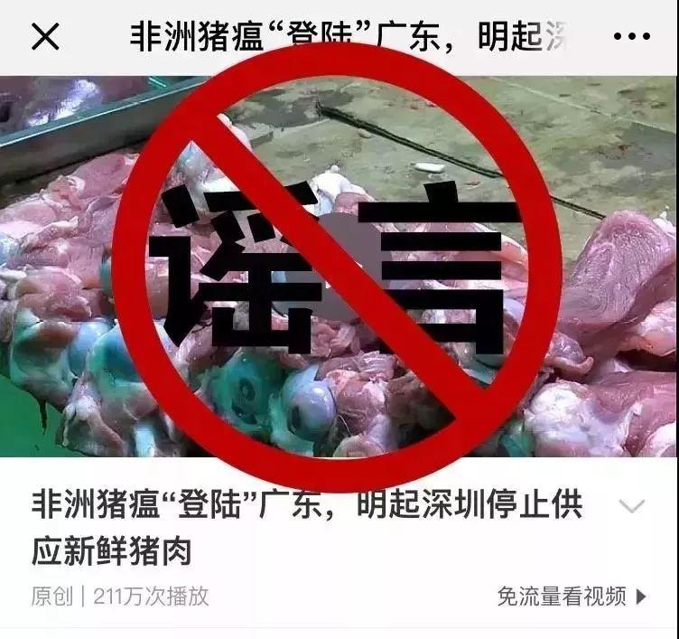 广东:非洲猪瘟不会感染人,肉制品高温处理后无隐患