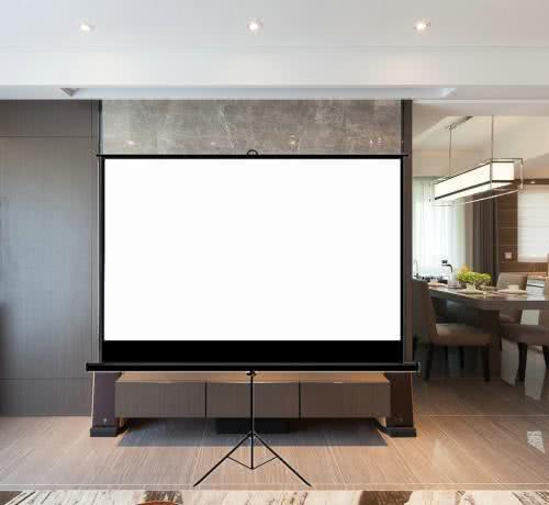 ?家里别傻傻装电视机啦如今都用玻纤幕布,躺床上也能看3D电影