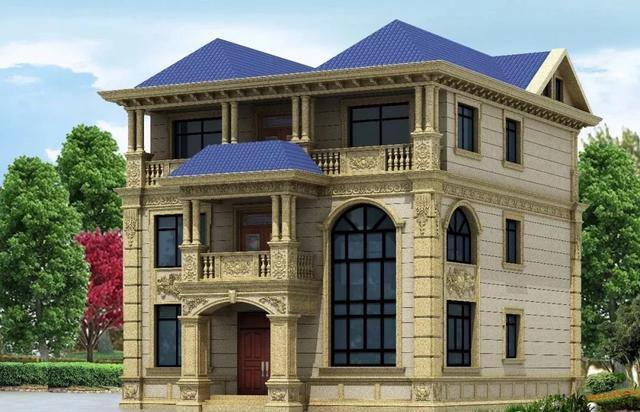 ?2019年新鲜出炉的石材别墅外墙设计,气势磅礴华丽大气令人羡慕