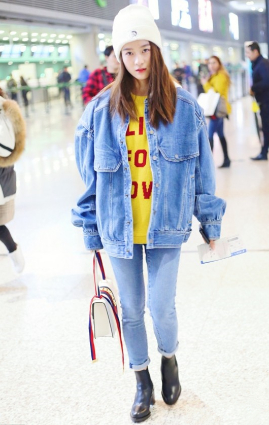 pick毛衣+牛仔裤,温暖又吸睛,彰显青春活力范