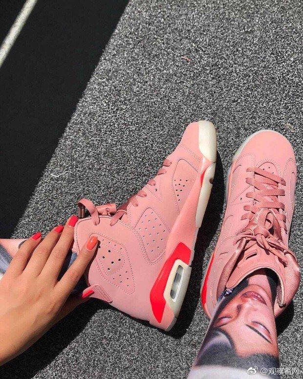 天猫发售AJ女款球鞋新品,鞋面采用锈粉色优质皮革