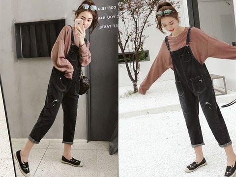 背带裤搭配什么样的服饰,套上都是青春的模样