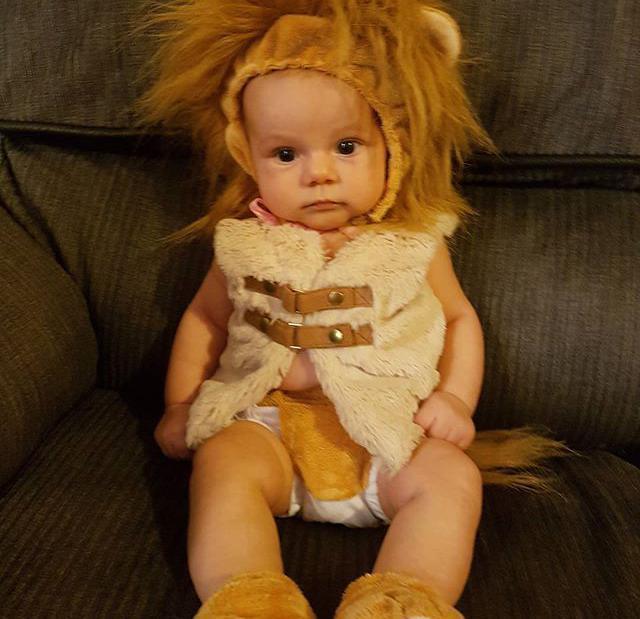 巧手妈妈将毛绒玩具改戏服,2个半月的女儿穿上萌翻了