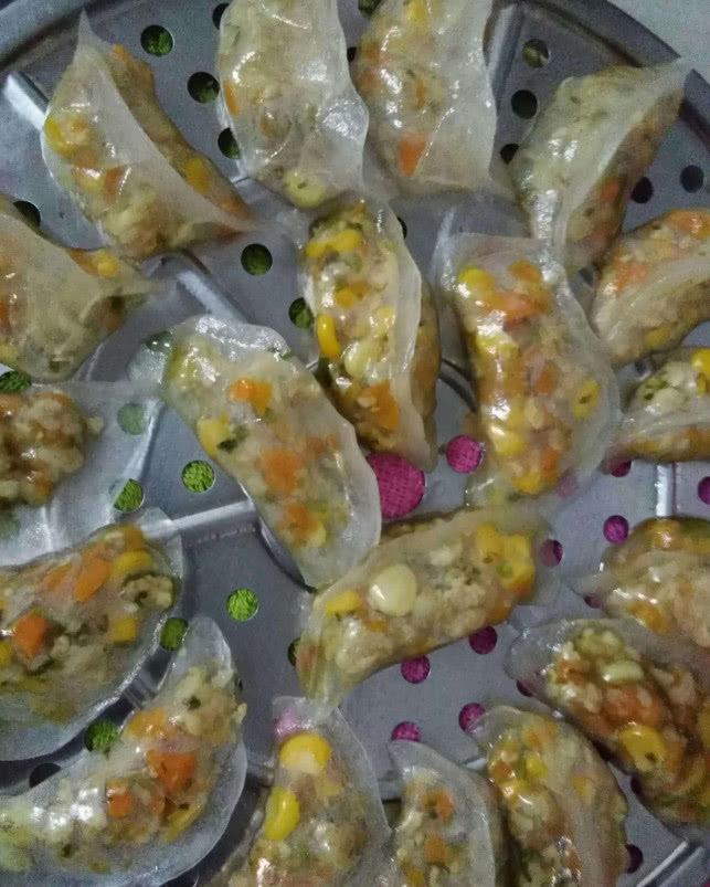 婆婆教我做水晶饺子,不用面粉不用水,只需做几步,孩子直呼美味