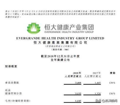 在沪筹建新能源汽车建造基地 恒大健康集团营收大增136%