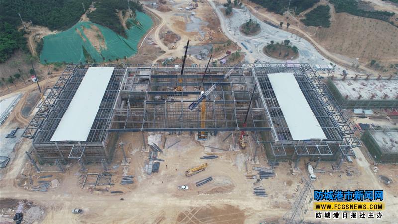 市园博园主展馆钢结构封顶