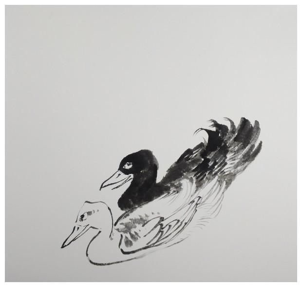 国画《春江水暖鸭先知》创作步骤,喜欢国画的朋友收藏了!