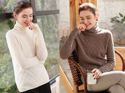 冬季的打底还是羊绒衫好,保暖又好搭配