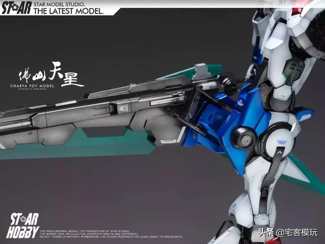 根大木秀PG 高达OO七剑 完美级别的伪电镀涂装!