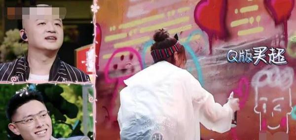 同样是喷绘:章子怡画蘑菇,张嘉倪画老公,谢娜画太阳,她最真实
