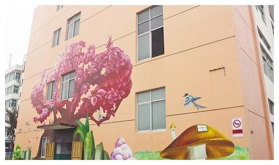 莆田市飞特鞋业有限公司手绘墙画美化厂区环境