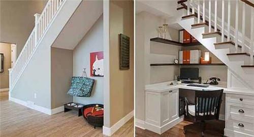 楼梯下面装修设计方案,五款绝佳楼梯下面装修方案!