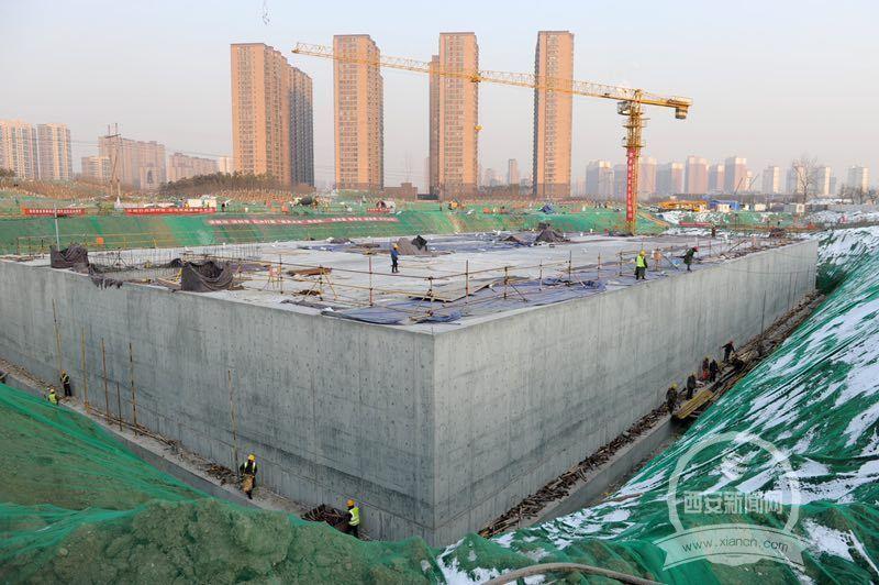 九污下游雁塔区段氵皂河雨污水收集工程各项工作进展顺利