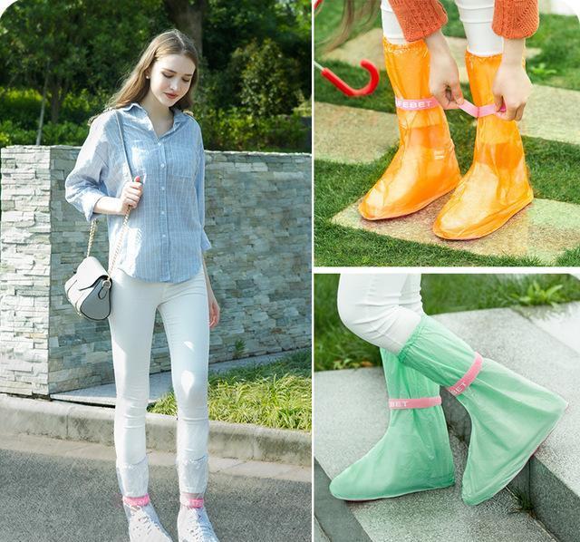 无缝有型雨鞋套,扇形设计脚再大也能穿,一双能用10年