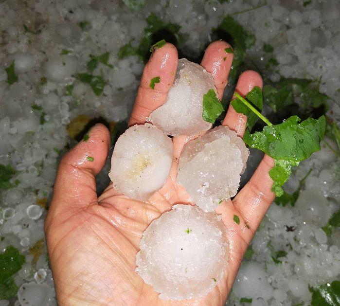 昨晚,贵州这里突降冰雹 !颗粒最大如鹅卵石般大小