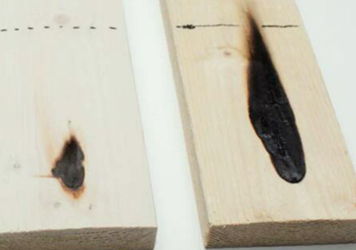 由木材制成的阻燃涂层可以抑制木材燃烧
