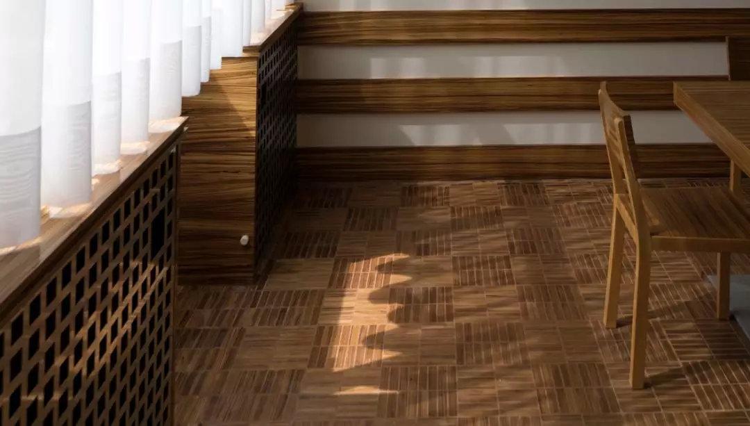 木地板斜着铺,效果居然这么赞!