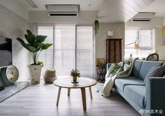 灰调木地板,简约质感,好高端!