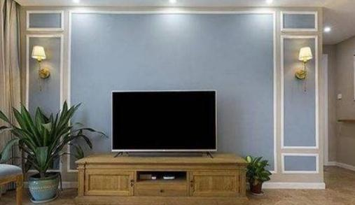 客厅别装大理石电视墙了,如今都流行用石膏线装修