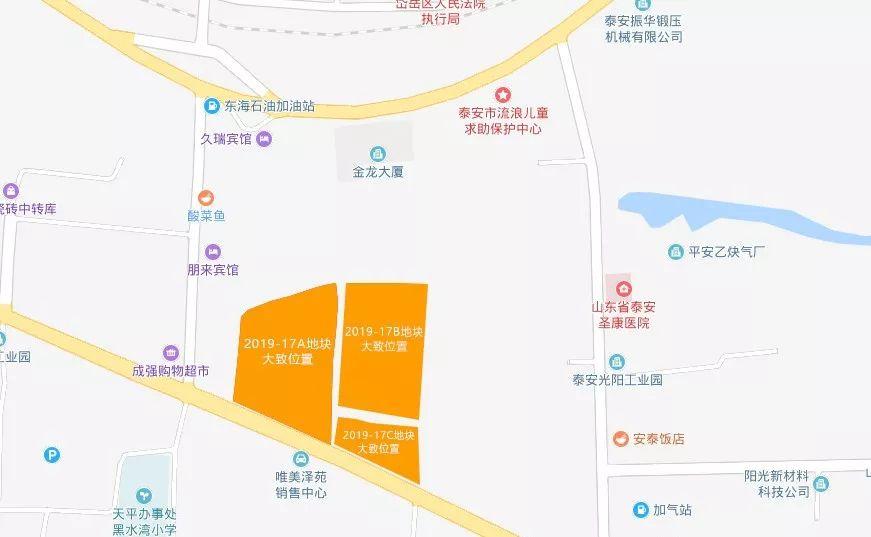 泰安4宗地块被拍走!将用于建设居住小区和商业服务业设施!位于高铁新区、泰肥一级路、正阳门大街、岩庄村附近