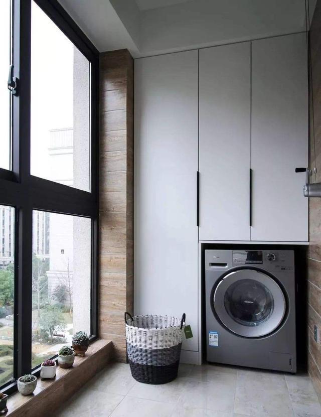 洗衣机柜不会选?这次,我们从位置、材质、格局三个角度深入分析