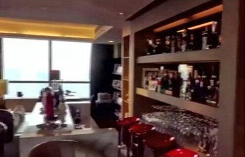 晒晒宋丹丹的豪宅,客厅面积就有上百平,挂着名贵油画和铺着地毯