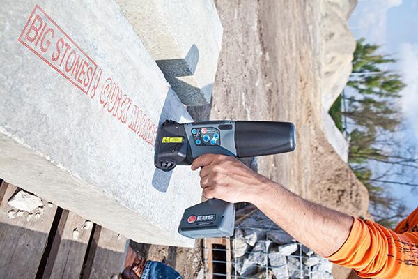 石材行业标识应用解决方案 EBS-260手持喷码机