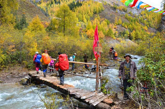 七藏沟徒步旅游之后,体验原生态徒步线路,感受原始的魅力
