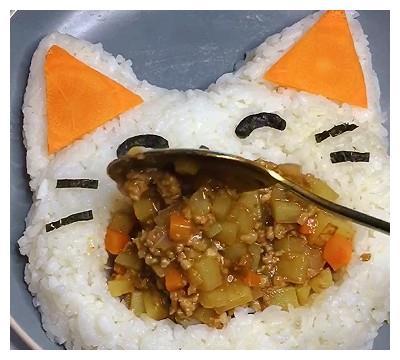 让宝宝爱上吃饭   无需磨具的猫咪碗~装什么都能吃好几碗