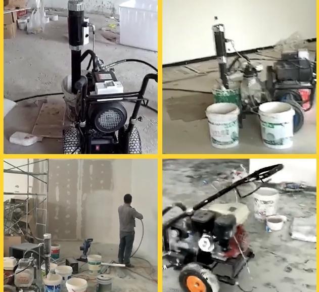 腻子粉喷涂机需要搭配研磨机使用吗