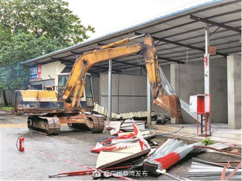 桥中二手厨具市场开拆!广州集中整治铁路沿线彩钢瓦房和违法建筑隐患