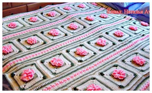「针织作品」壮观的床上用品四件套,一件件全是大工程啊