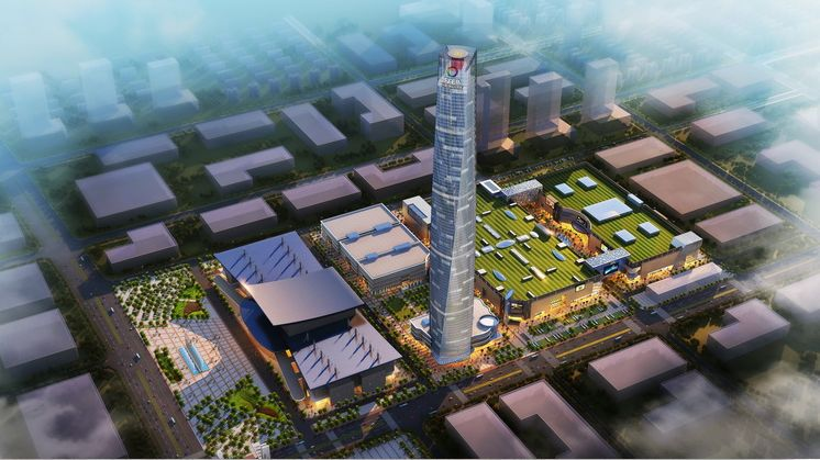 """423.8米!东莞""""第一高楼""""主体钢结构封顶!"""