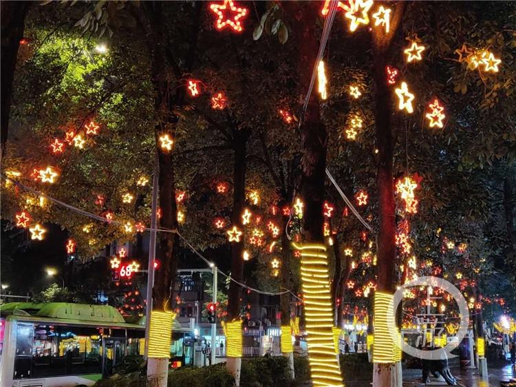 """新年邀你来重庆赏灯·沙坪坝丨大红灯笼朵朵""""红梅""""让沙坪坝夜色璀璨"""