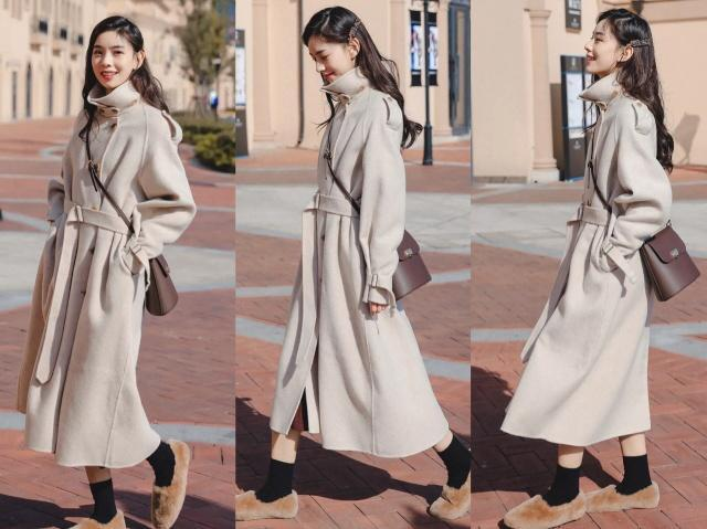 这个冬季最流行过膝羊绒大衣,搭配对的鞋子,谁穿谁时髦!