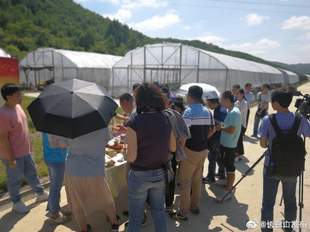 在图们市石岘镇河北村创业扶贫食用菌基地