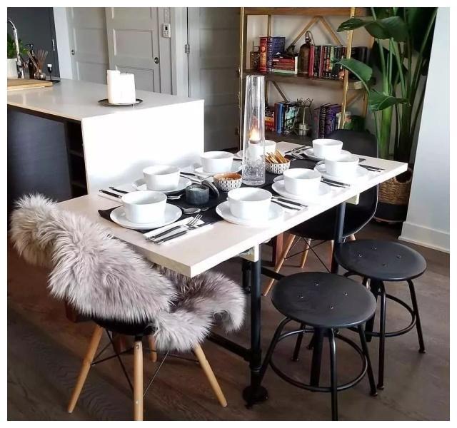 北欧风单身公寓进门就被圈粉了餐厨一体设计太美了