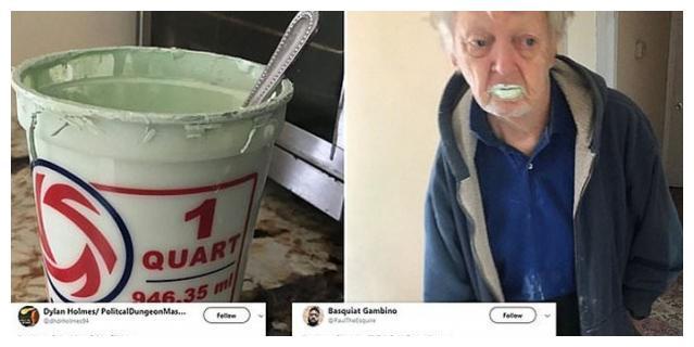 油漆突然少掉半桶 老翁误把油漆当酸奶吃