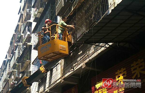 经开区:宝庆商贸城弱电线网改造整治完毕