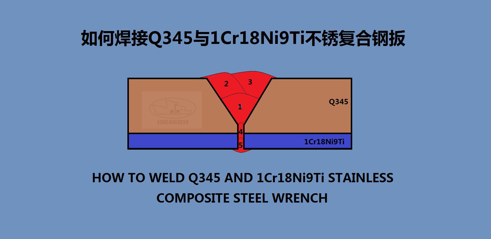 如何焊接Q345与1Cr18Ni9Ti不锈复合板