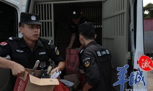 护安宁!深圳光明警方统一销毁管制刀具